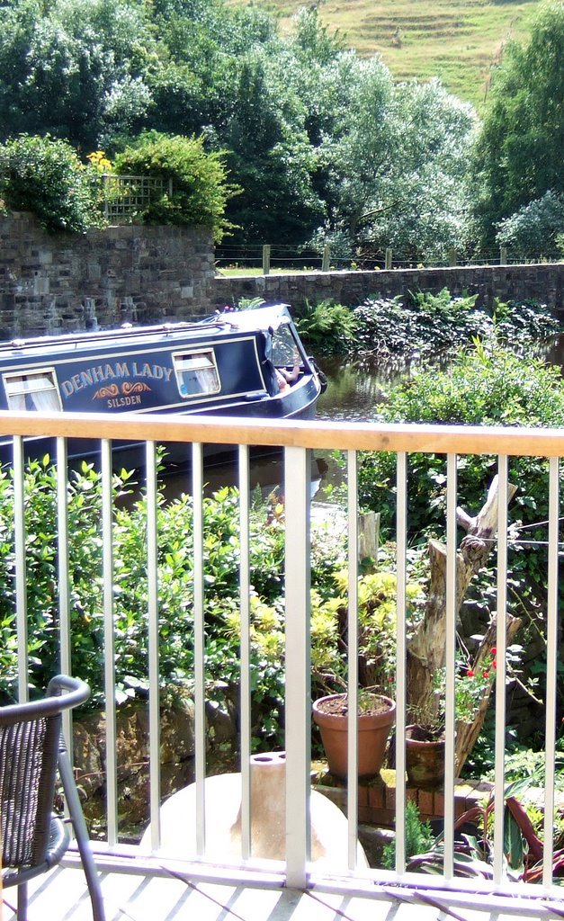 Balcony Overlooking Canal at 18 Ealees Road Littleborough